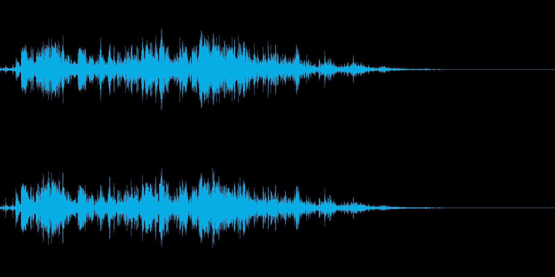 雷 落雷の迫力ある効果音 03の再生済みの波形