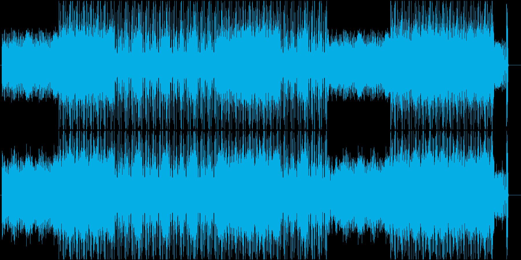 ロックとオーケストラを融合させた音源ですの再生済みの波形
