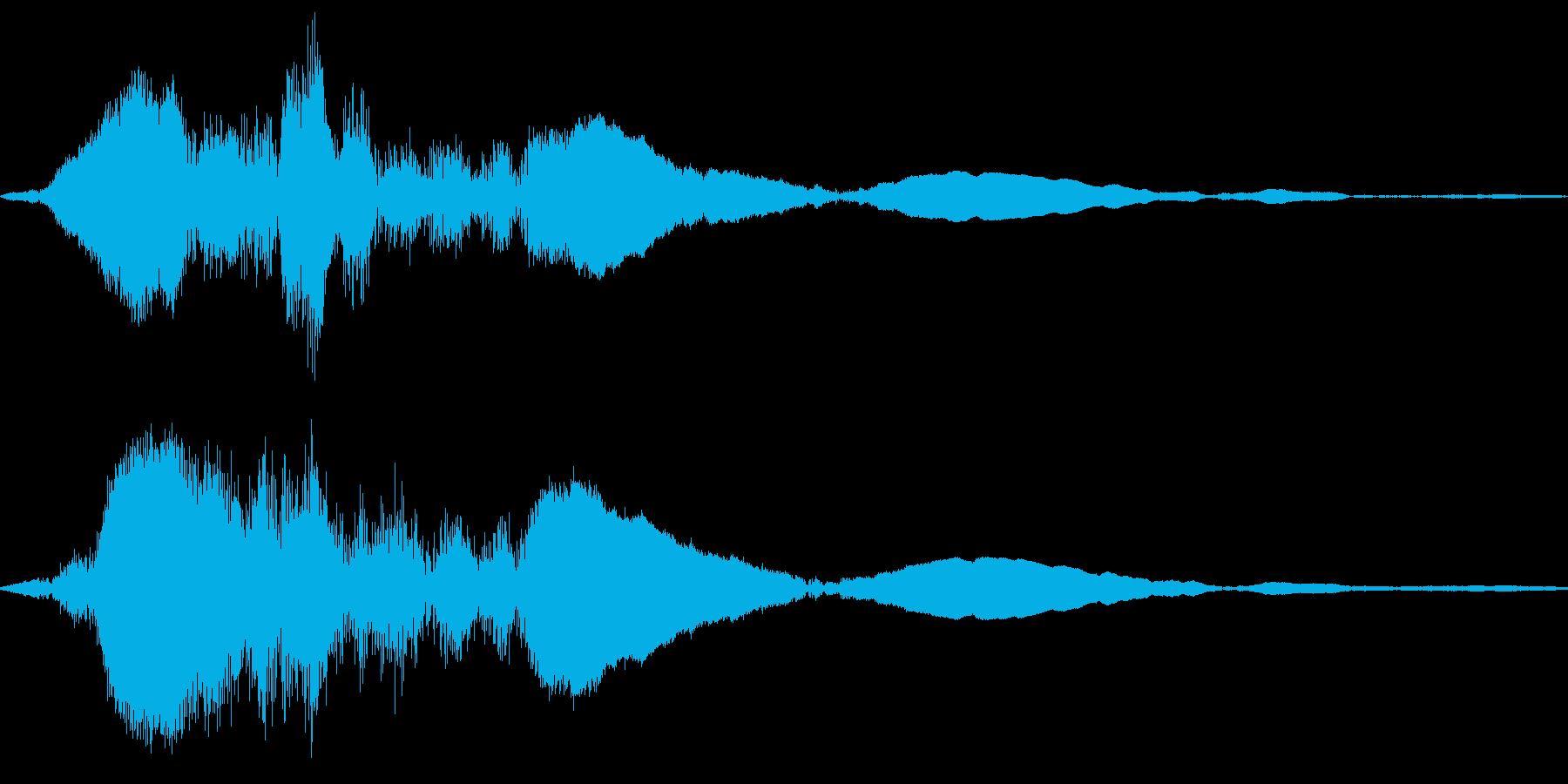 帯を締めるの再生済みの波形
