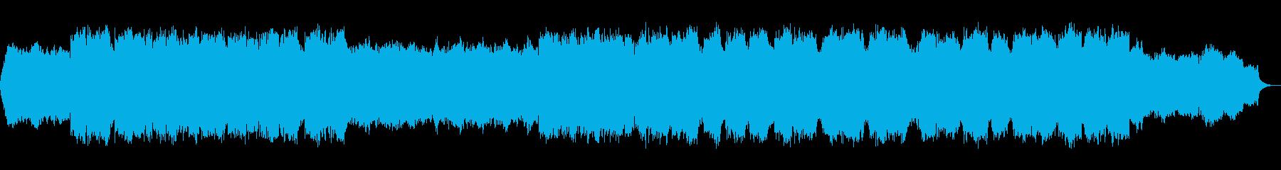 幻想的な笛のヒーリング音楽の再生済みの波形