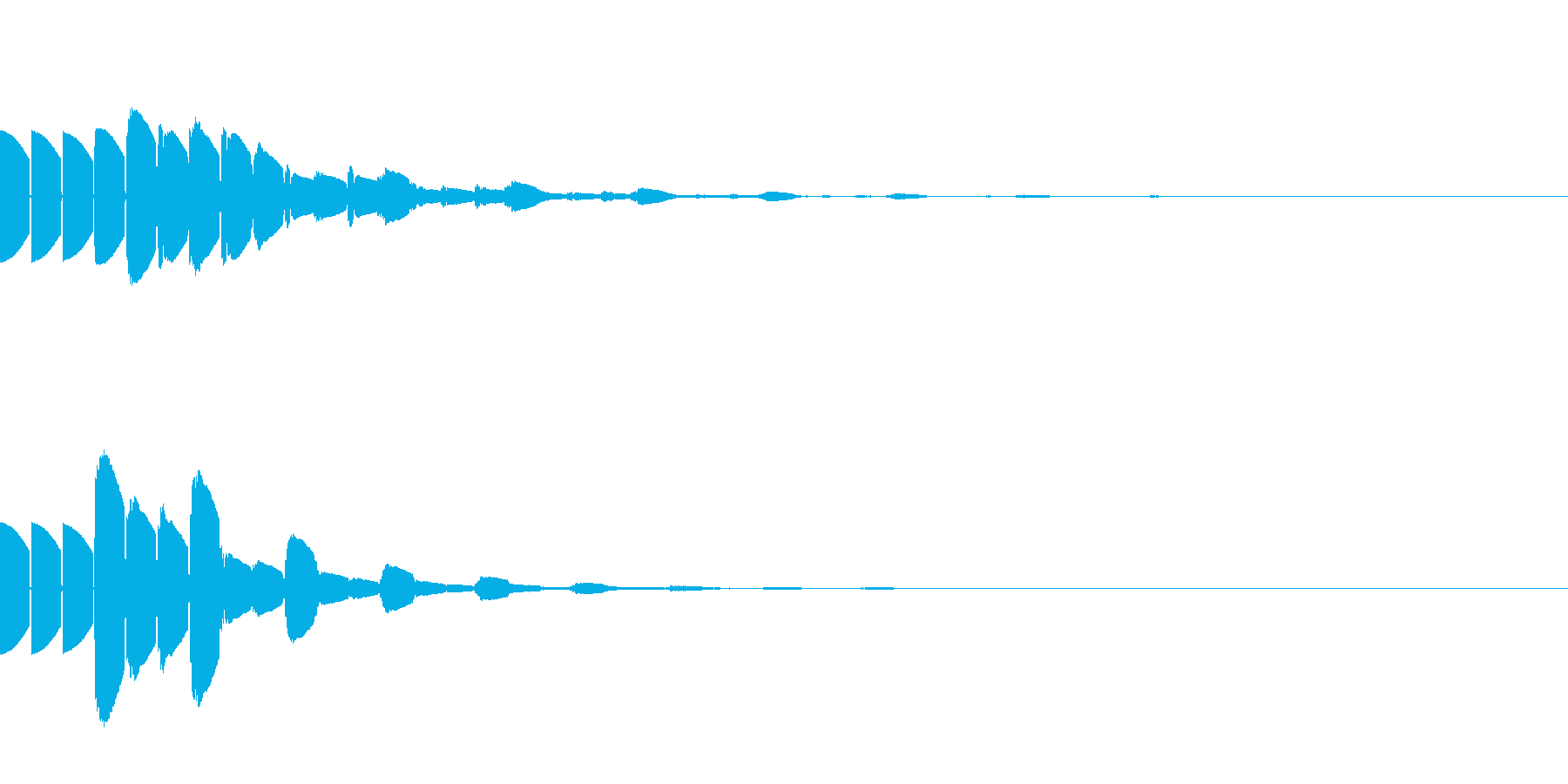 ピコピコな高音(テクノ/ファミコンNESの再生済みの波形