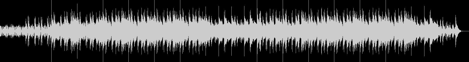 エレクトロとブルージーなピアノBGMの未再生の波形