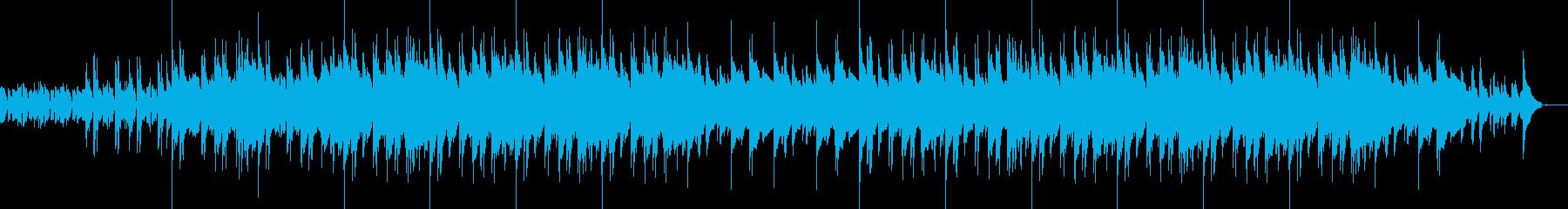 エレクトロとブルージーなピアノBGMの再生済みの波形