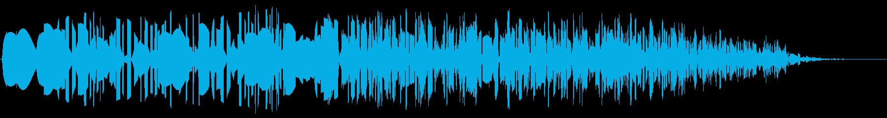 ファミコン風_ 魔法音3の再生済みの波形