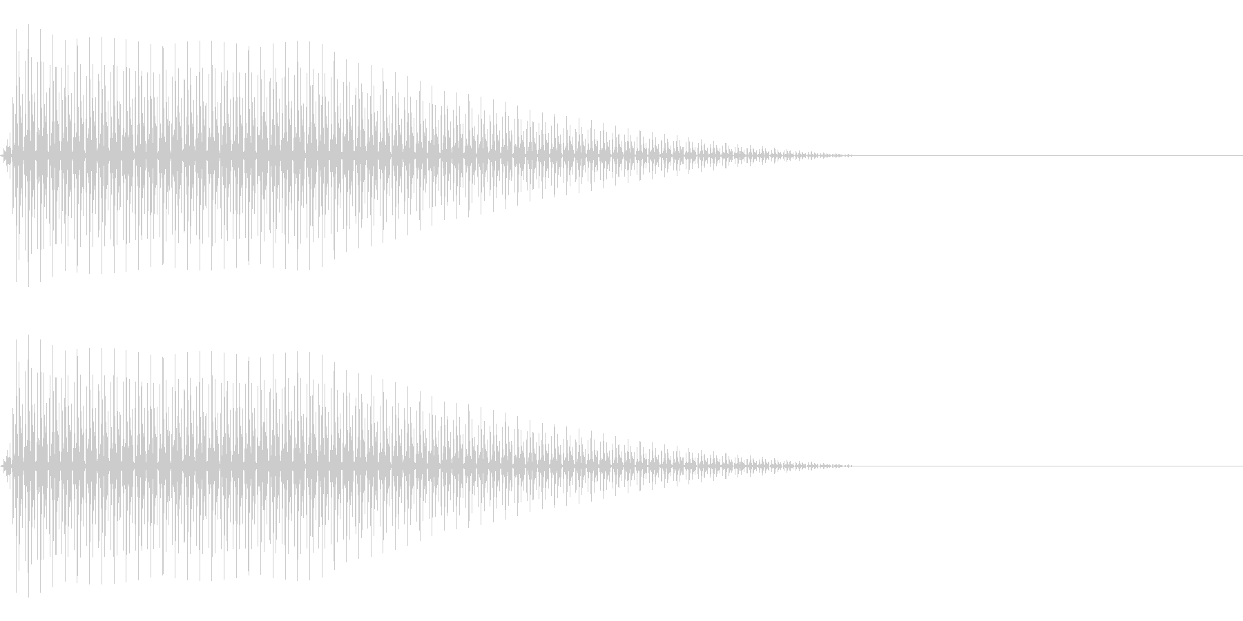 OctaveCom アプリ用タッチ音4の未再生の波形
