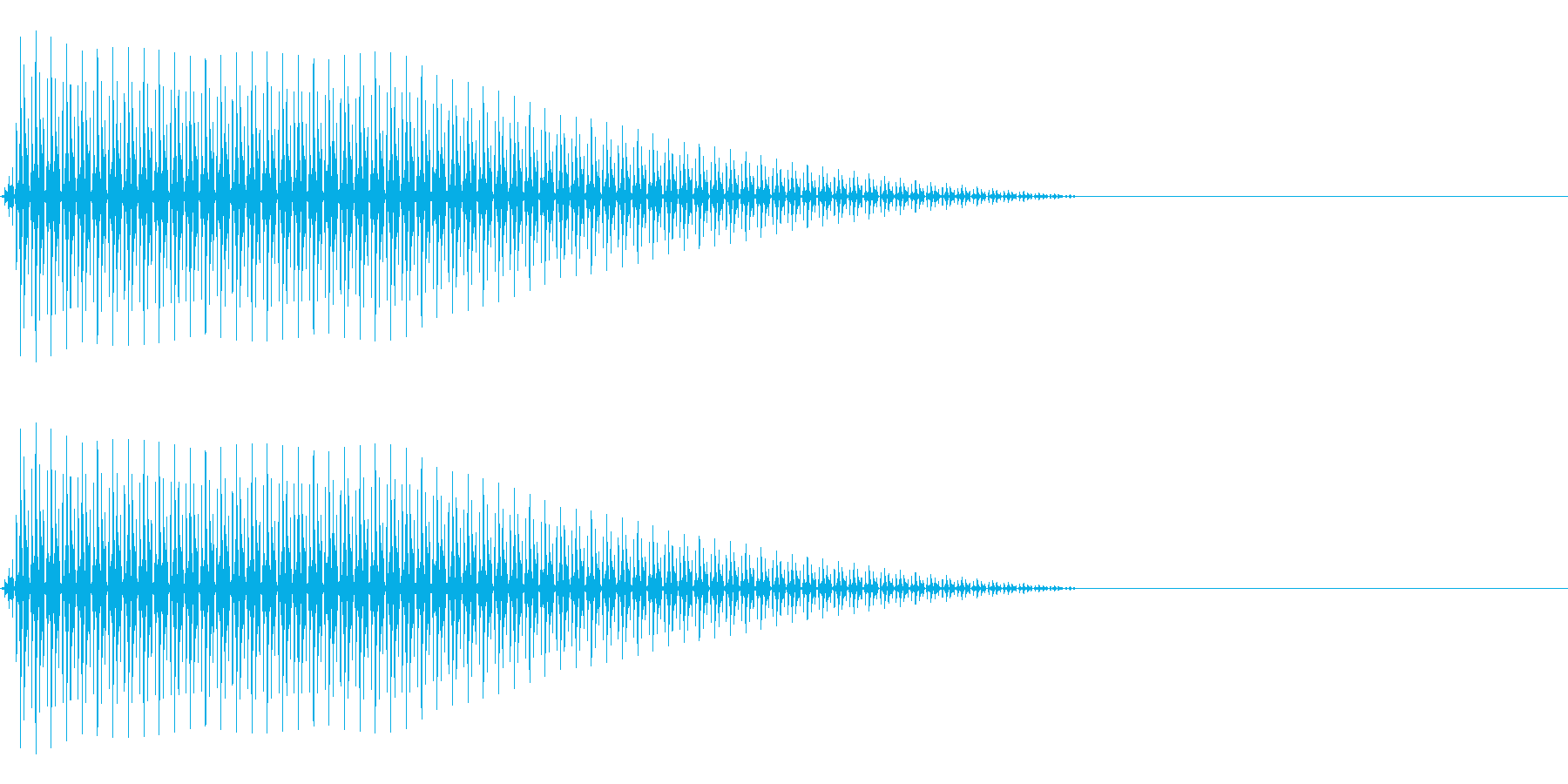 OctaveCom アプリ用タッチ音4の再生済みの波形