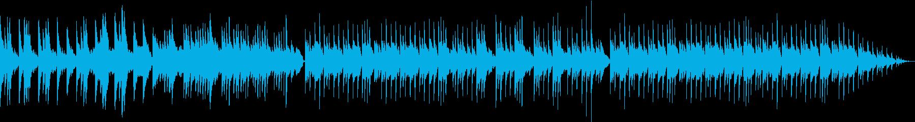 ほのぼのと明るい雰囲気のピアノメインの曲の再生済みの波形