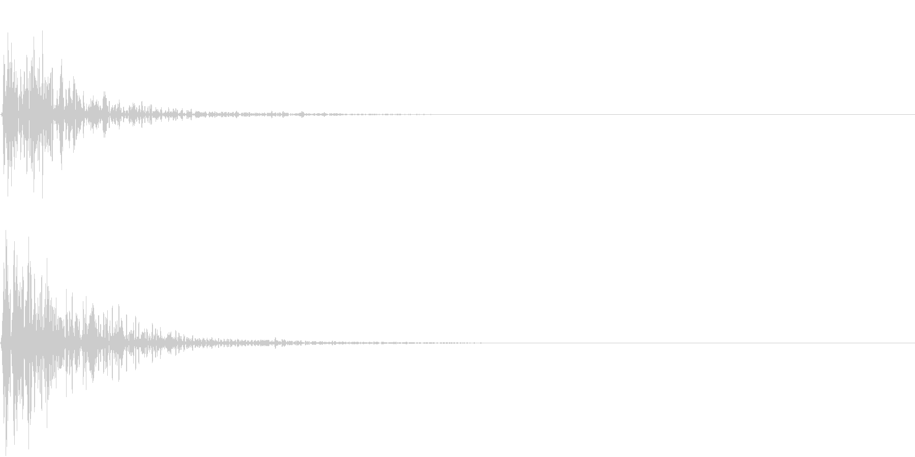 Kitchen 調理器具の音 単発 1の未再生の波形