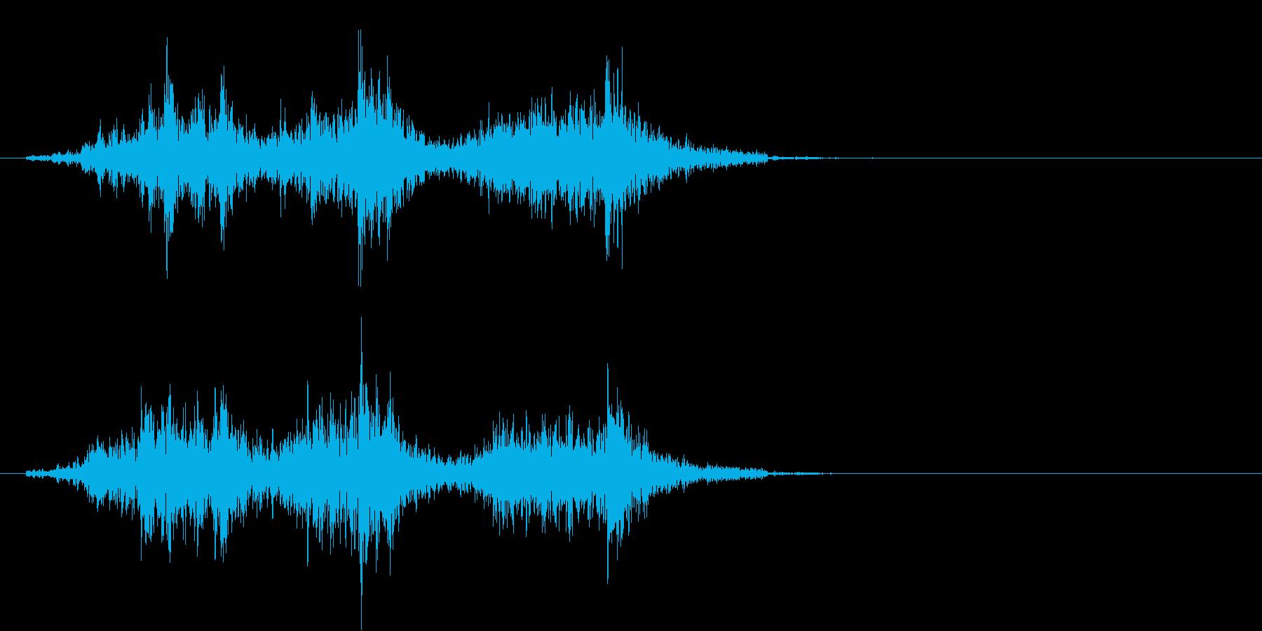 カーテンを開ける音の再生済みの波形