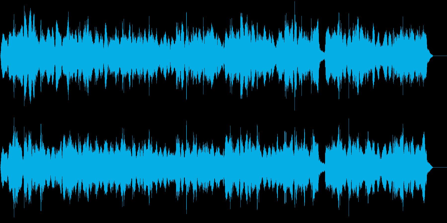 戦国時代や三国志をイメージした民族的な曲の再生済みの波形