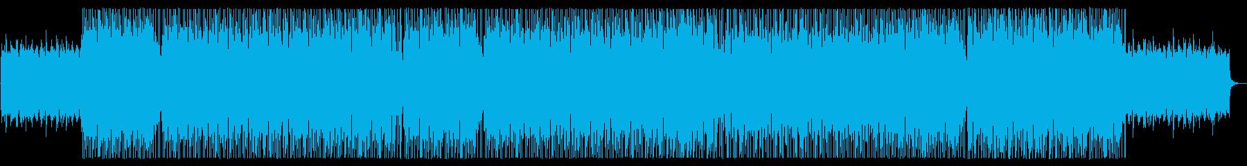 アジアンな広がりのあるシンセサイザーの曲の再生済みの波形