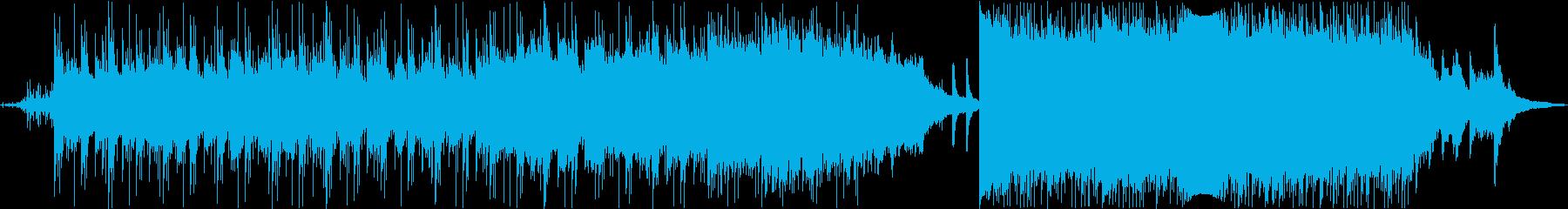 ピアノオーケストラのドラマチックメロディの再生済みの波形