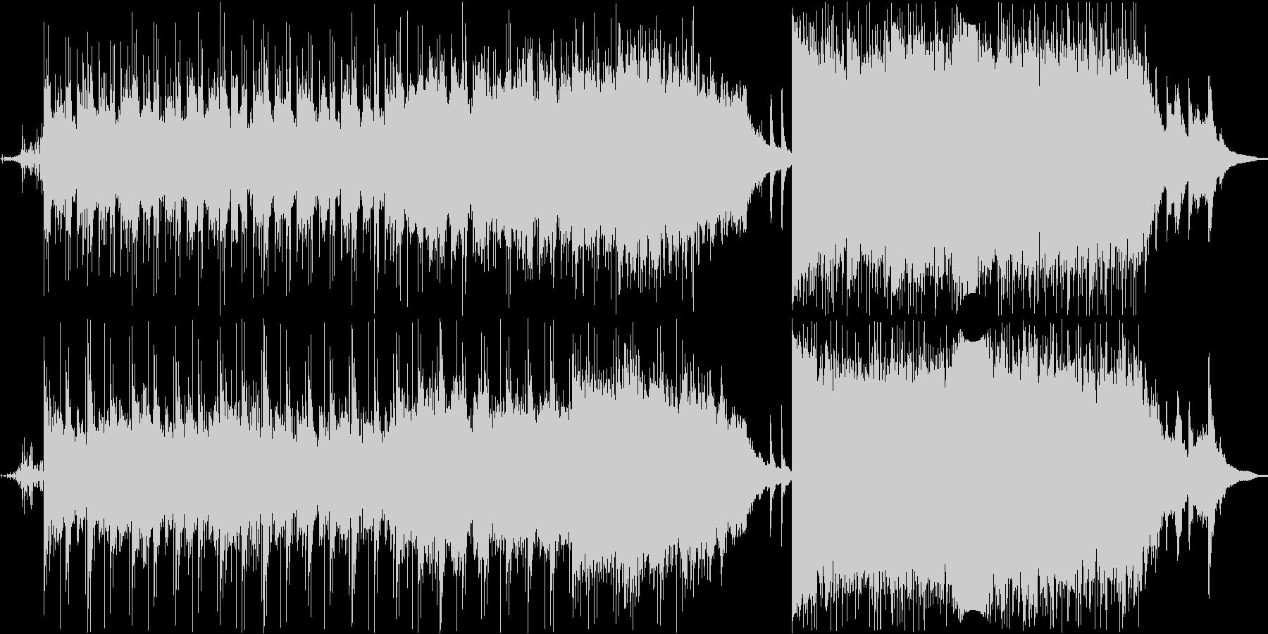 ピアノオーケストラのドラマチックメロディの未再生の波形