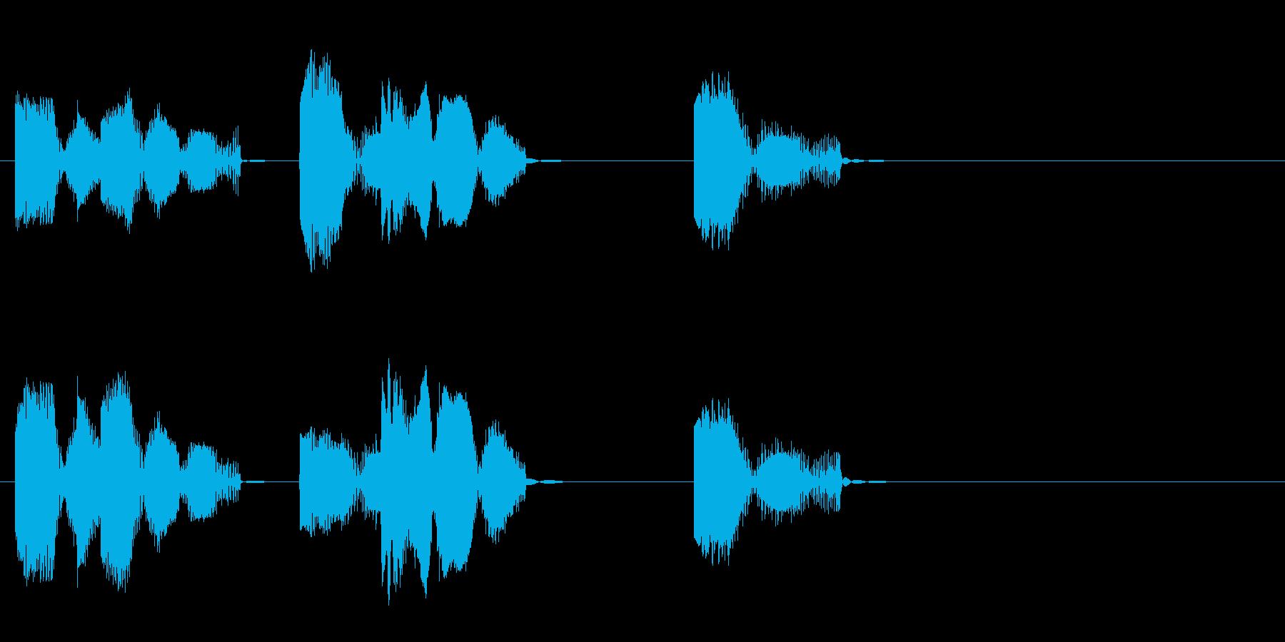 ロボットの音声 1の再生済みの波形