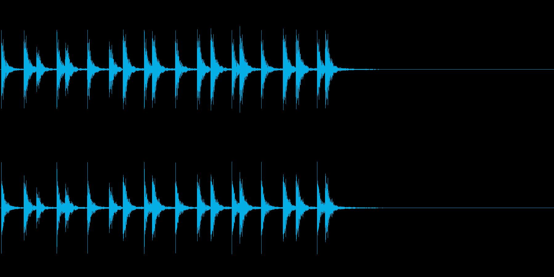 相撲などの触れ太鼓「大拍子」フレーズ音2の再生済みの波形