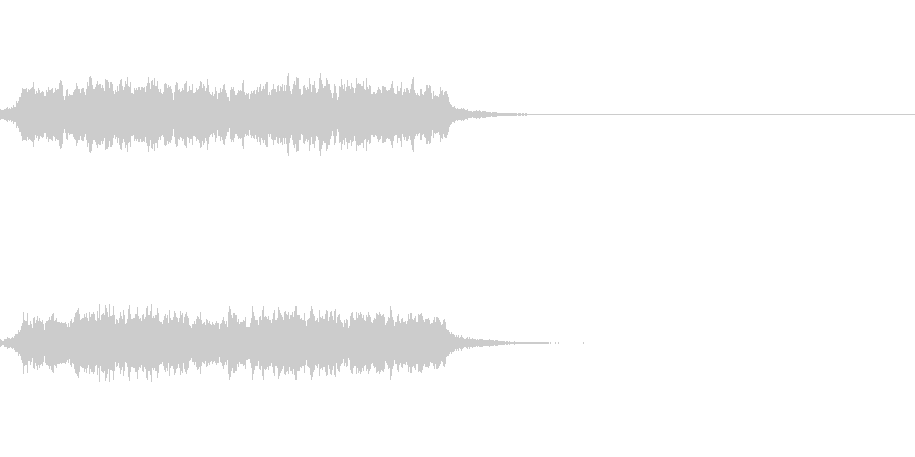 魔法がかかる音の未再生の波形