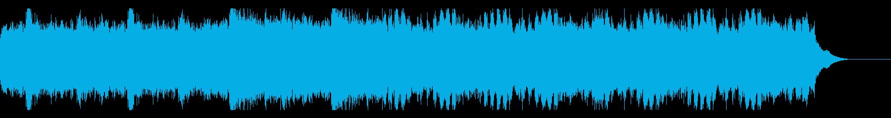始まりを感じさせるピアノストリングスの再生済みの波形
