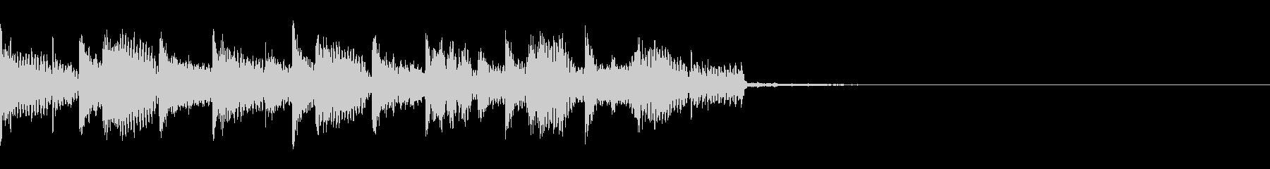 激しいエレクトロなジングル・5の未再生の波形