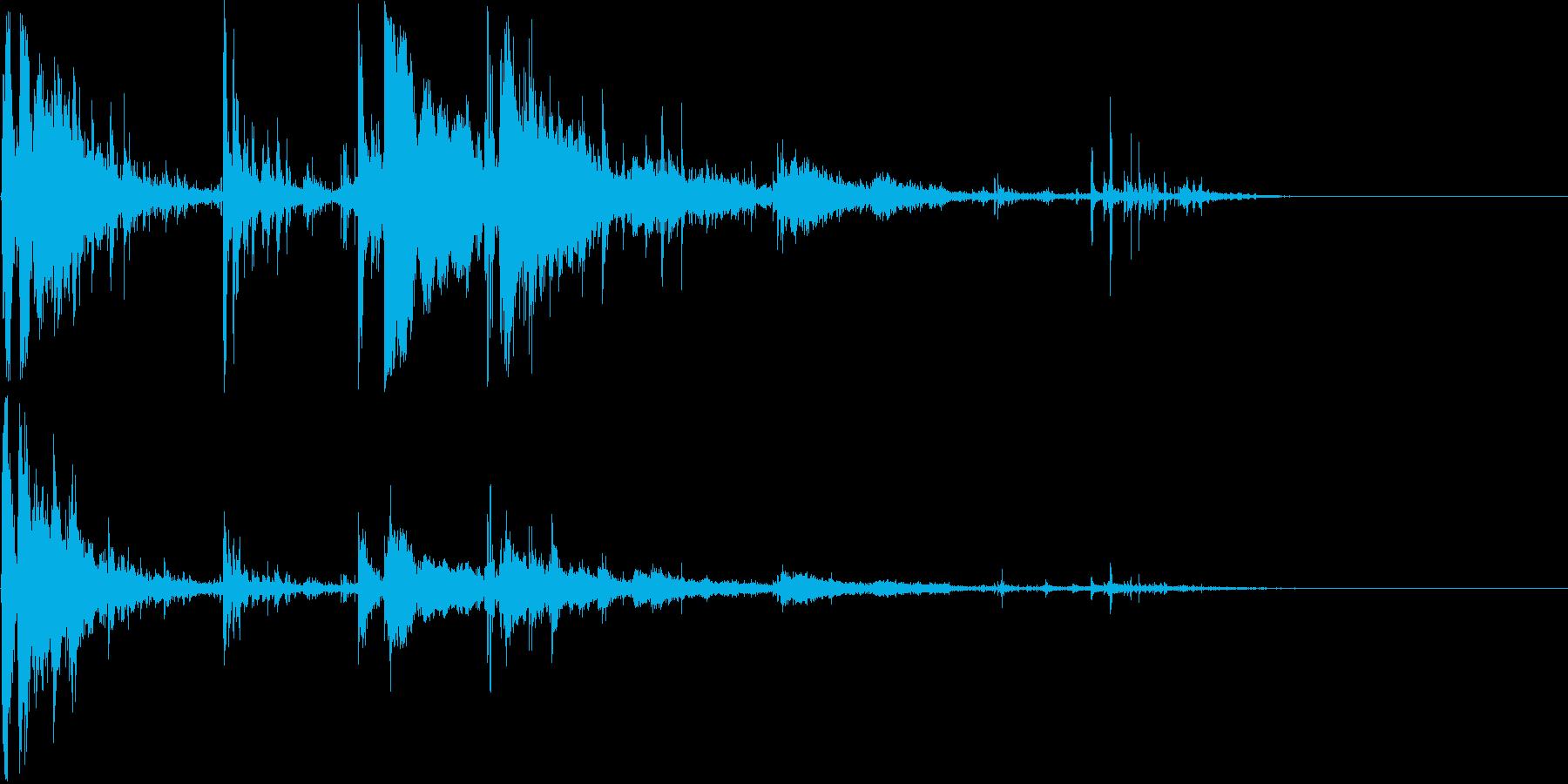 ガラス割れる音(パーン)の再生済みの波形