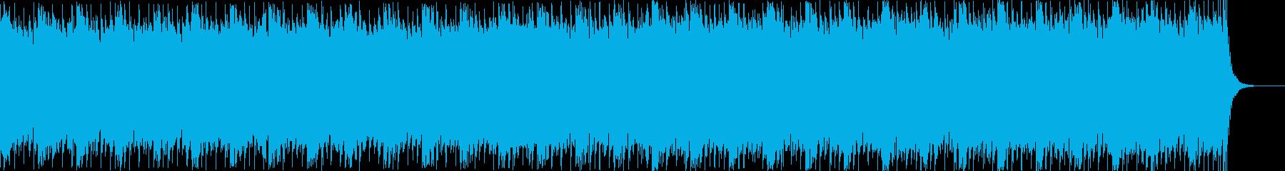 クールなデジタルサウンド、CG映像等。の再生済みの波形