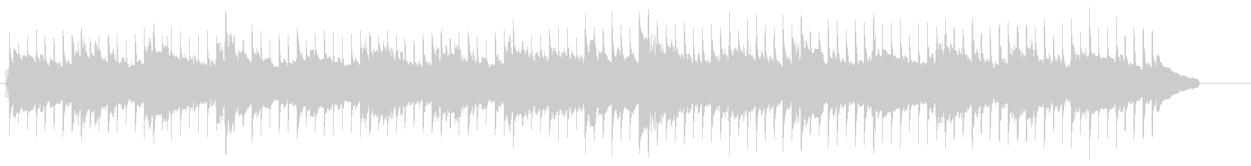 エレピと木琴の柔らかなミニマルポップの未再生の波形