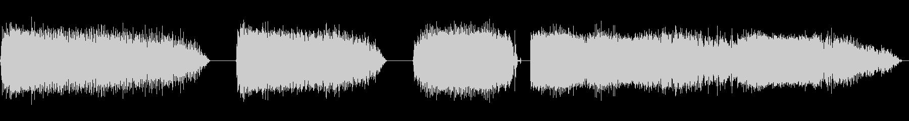 ゾンビの声の未再生の波形