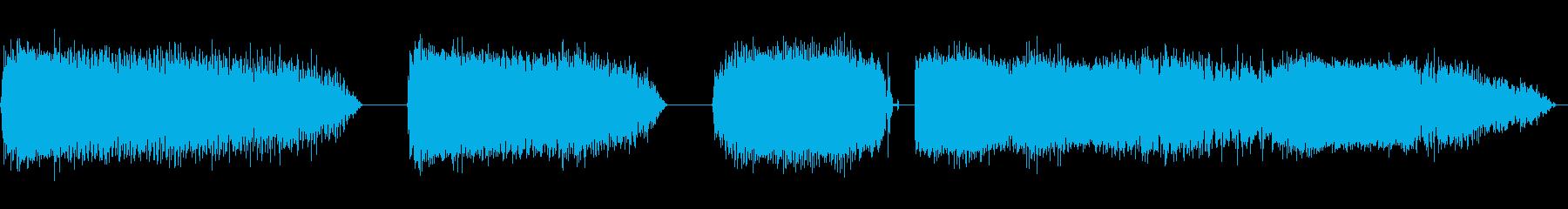 ゾンビの声の再生済みの波形