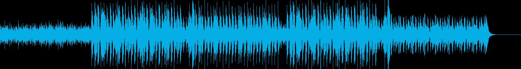 アンビエントとヒップホップの融合の再生済みの波形