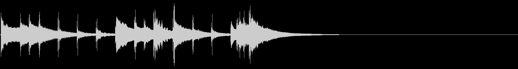 ケルティックなオルゴールジングルの未再生の波形