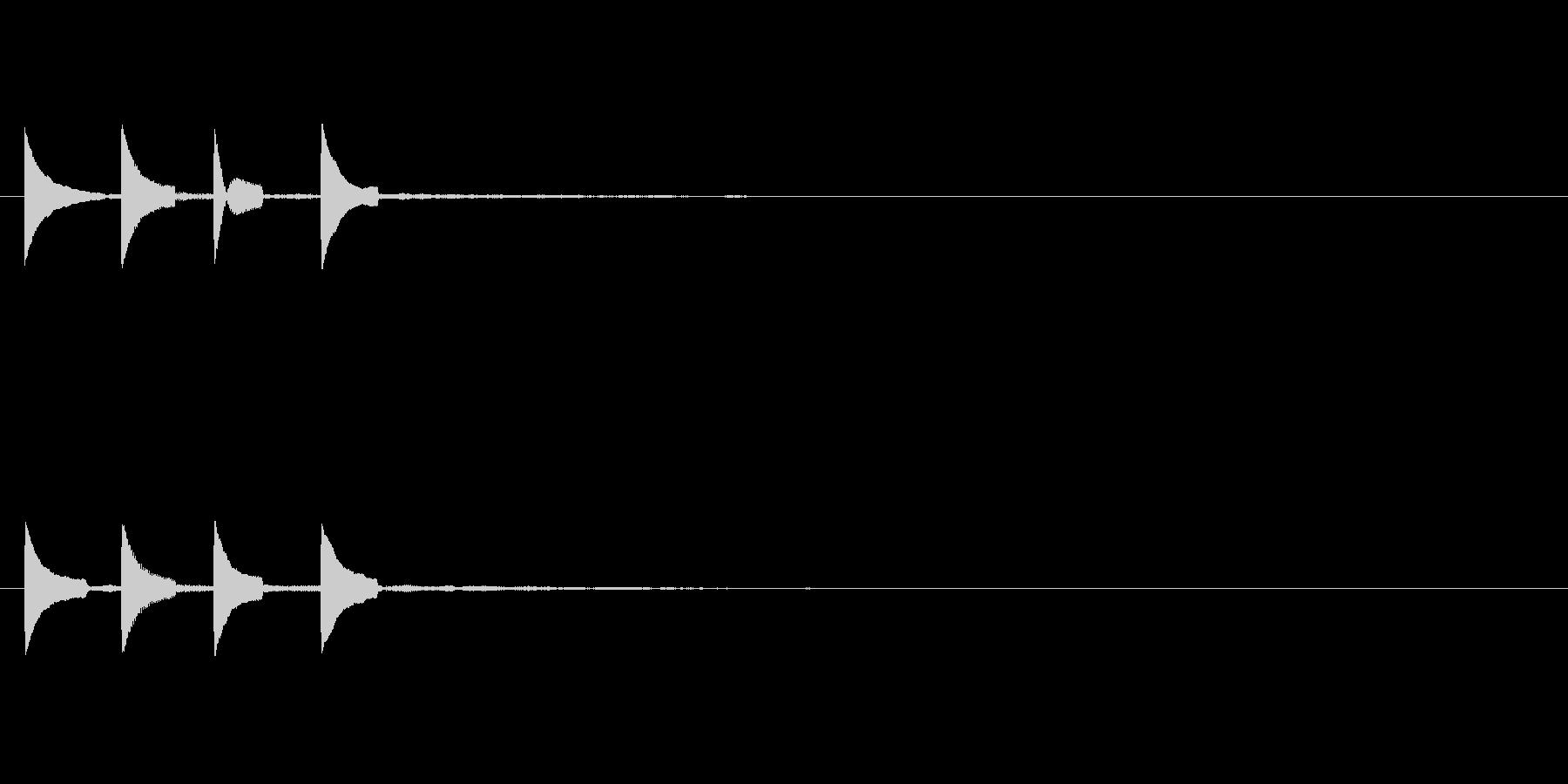 システム音 着信音 ピポピポーンの未再生の波形
