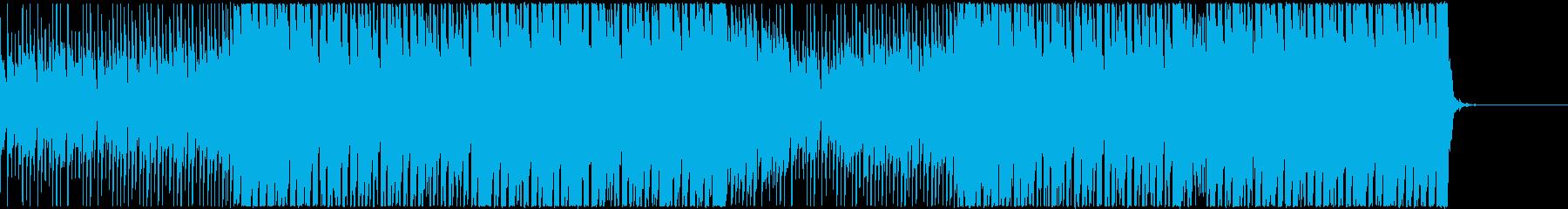 説明用動画のバックグラウンドに最適の再生済みの波形