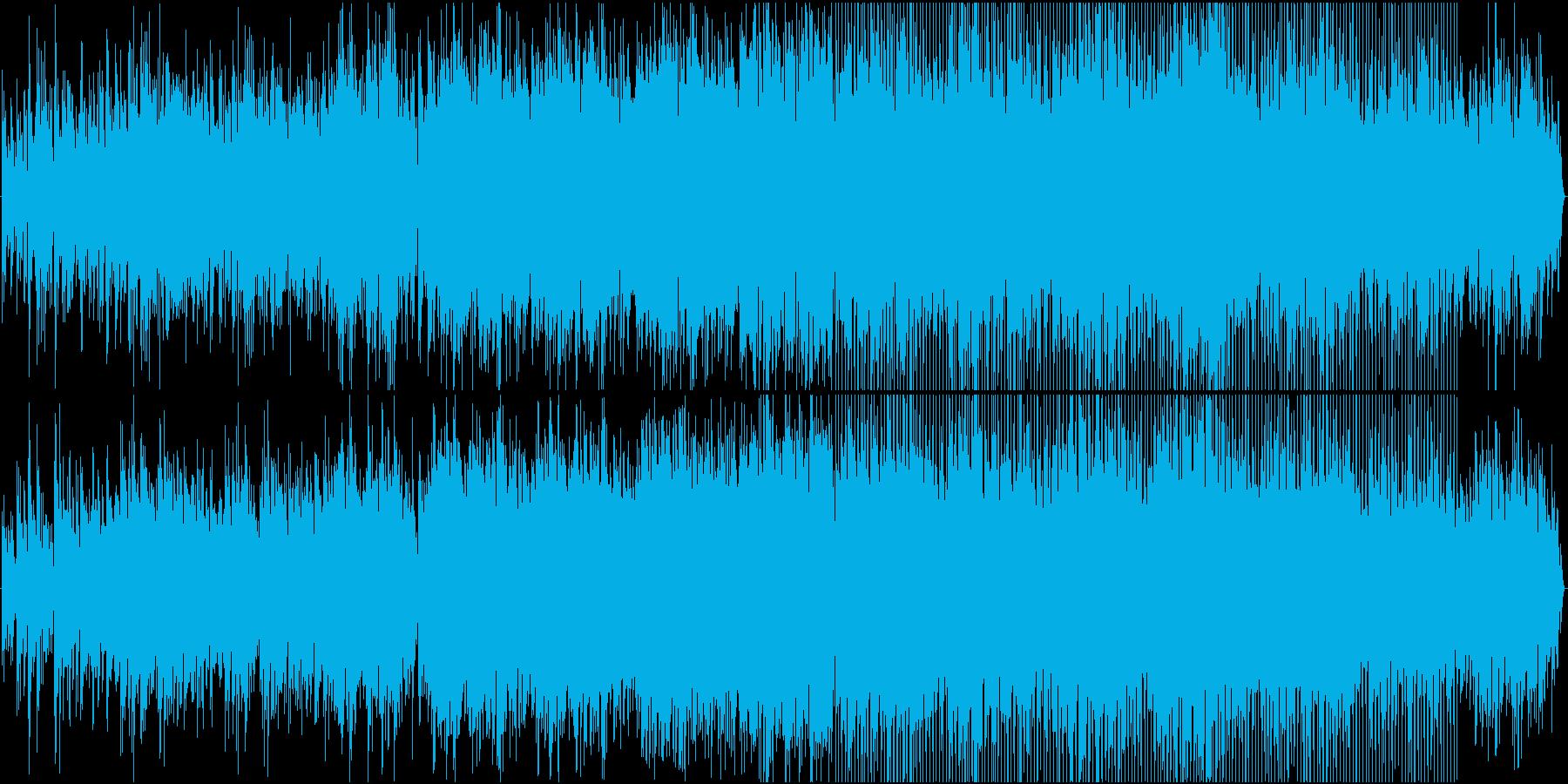 トロンボーンのカフェ風ボッサの再生済みの波形