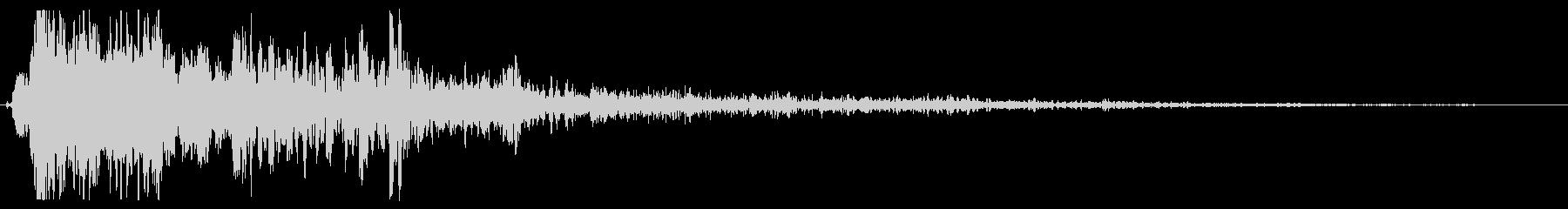 スペースガン:シングルショットの未再生の波形
