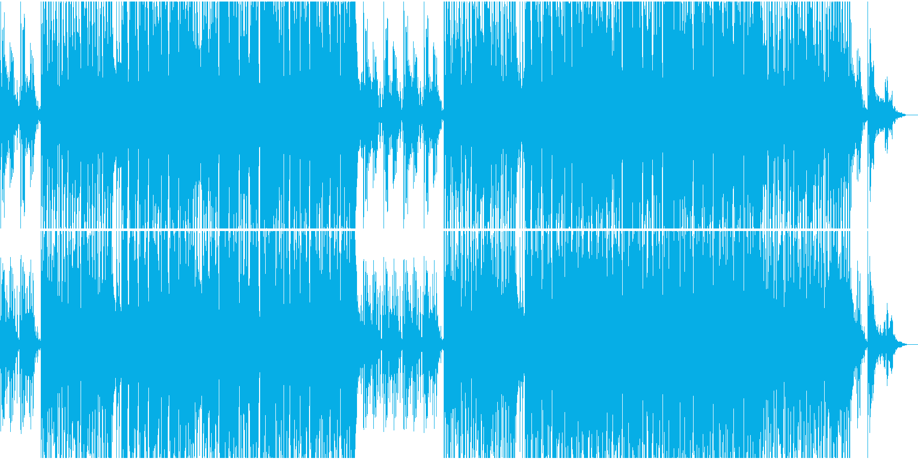 ガットギターPOPギターインストの再生済みの波形