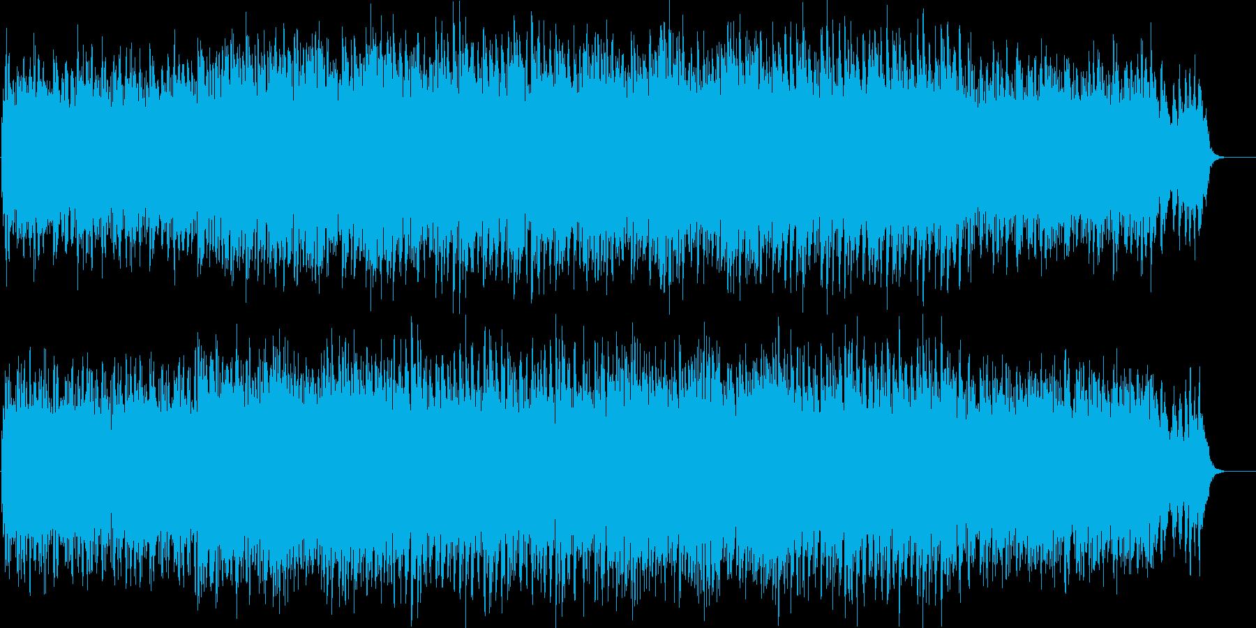 情景的でどこか寂し気なシンセBGMの再生済みの波形