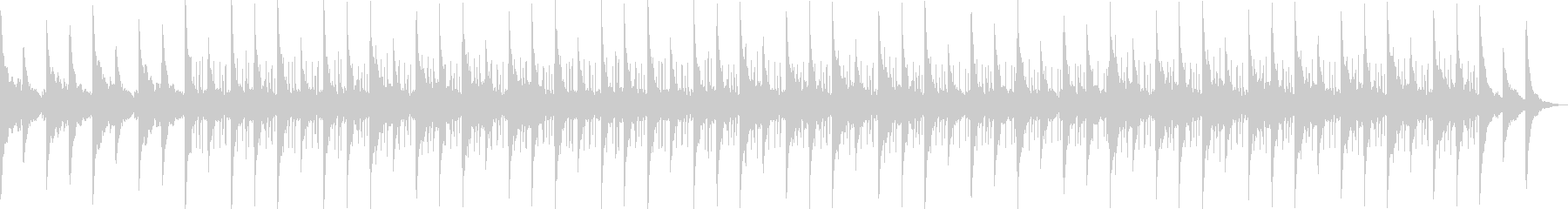 チルアウト・切ないローファイヒップホップの未再生の波形