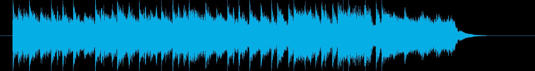 疾走感とワクワク感のシンセサウンドの再生済みの波形