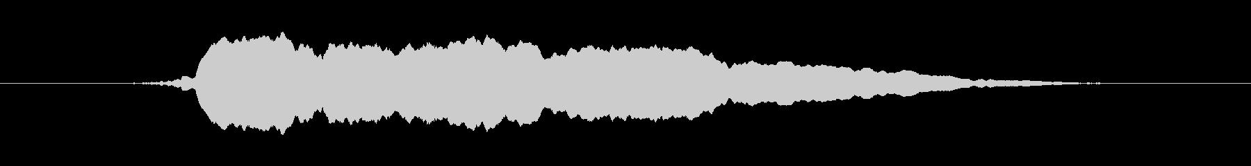 感動W、口Wの未再生の波形