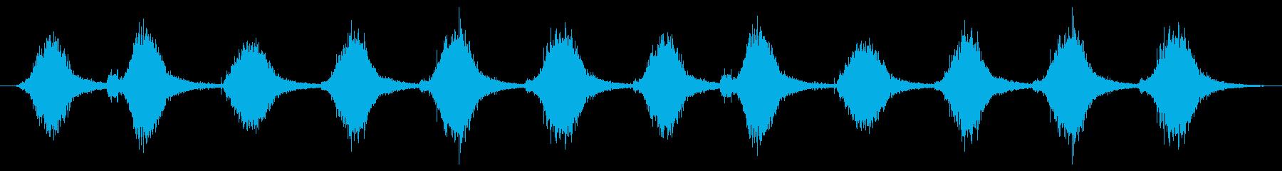 ハードストローまたはコーンブルーム...の再生済みの波形