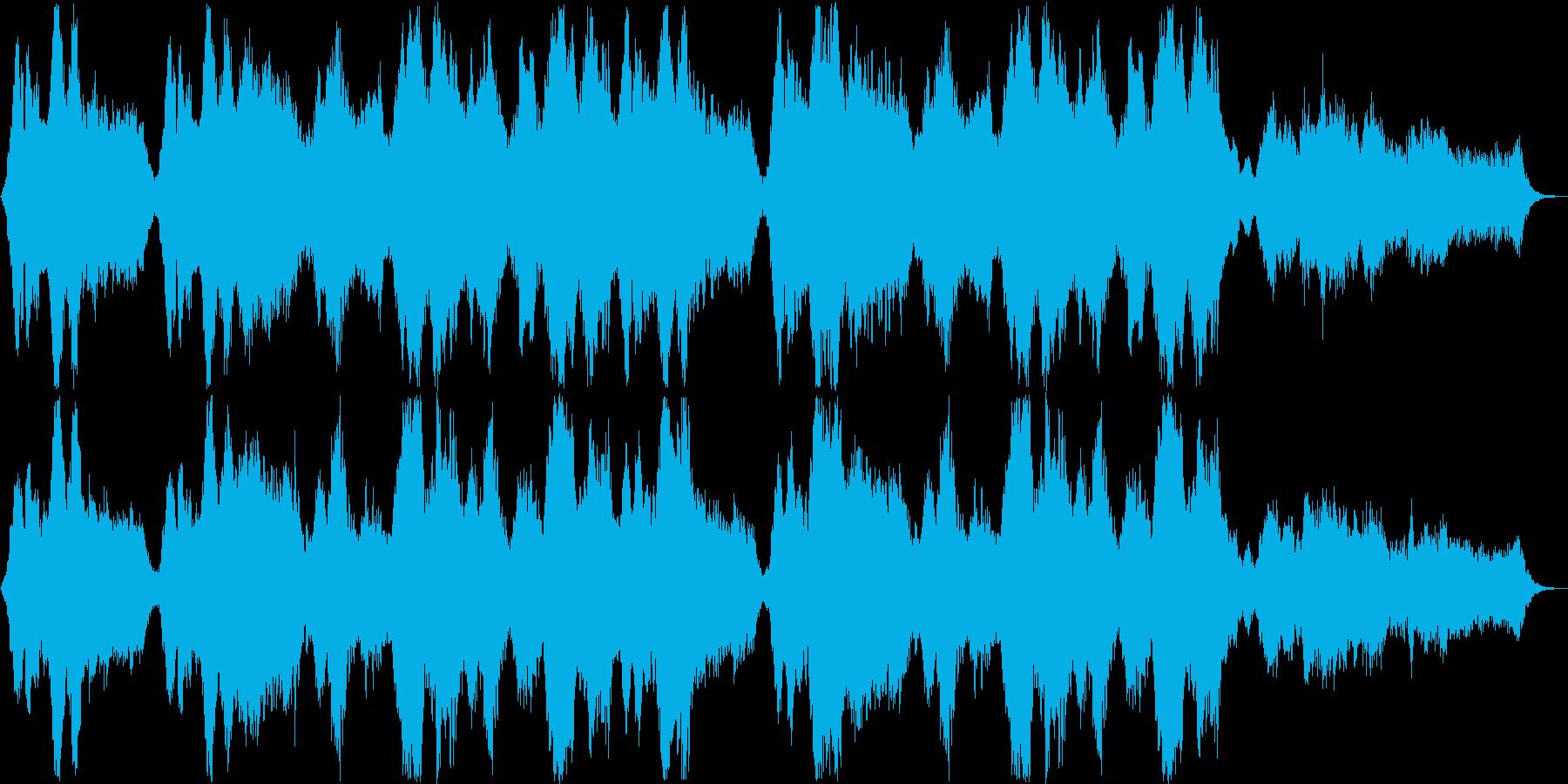 ゆったりとしたシンセサイザーサウンドの再生済みの波形
