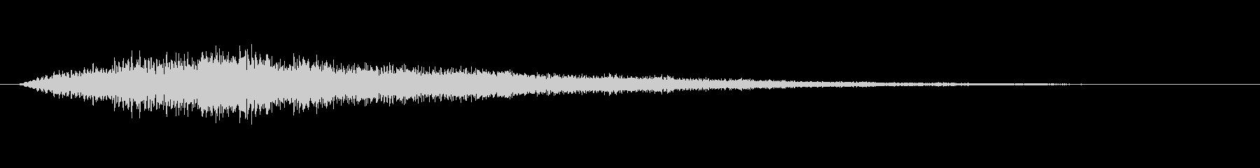 トゥルルーン テロップ・決定音の未再生の波形