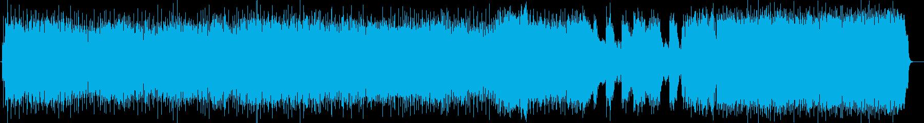 アップテンポの爽快なポップスの再生済みの波形