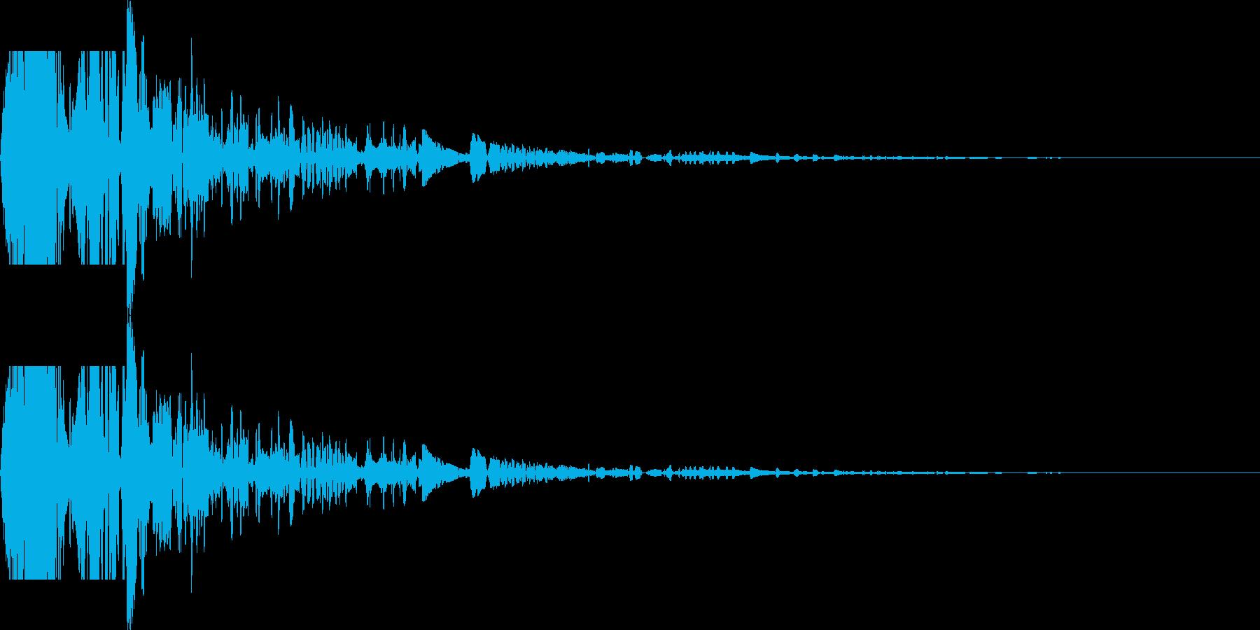 ドサッ(落下や倒れる衝撃音)06の再生済みの波形