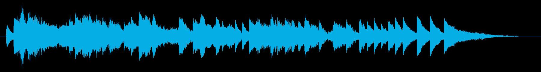 切なく、優しいピアノのBGMの再生済みの波形
