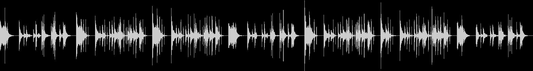 琴の爪弾くメロディがヨガ瞑想効果を高めるの未再生の波形