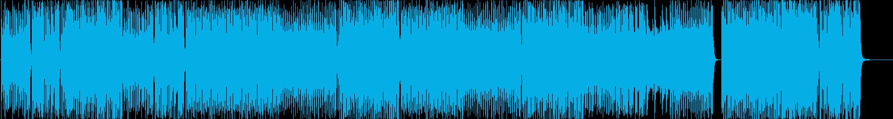 シンセ色の強いデジタルな和風ロックの再生済みの波形