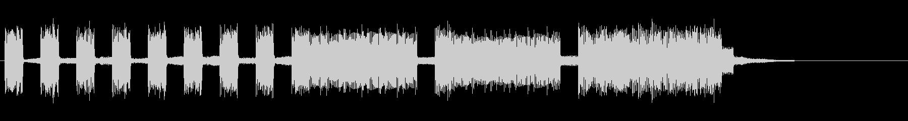 ファミコン風ゲームオーバー音の未再生の波形