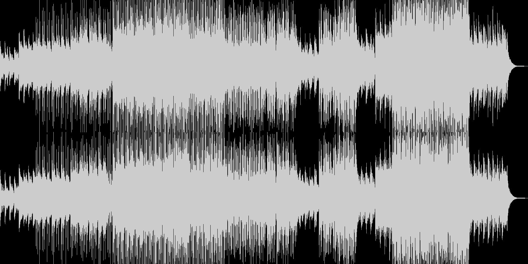 幻想的な夜明けをイメージ・ポップスの未再生の波形