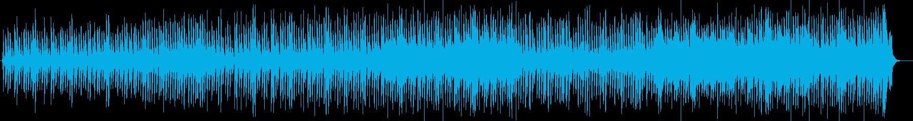 のんびり感のあるシンセ木琴などの曲の再生済みの波形