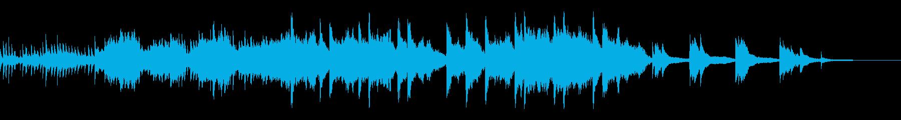 『霧の朝』ピアノとバイオリンの曲の再生済みの波形